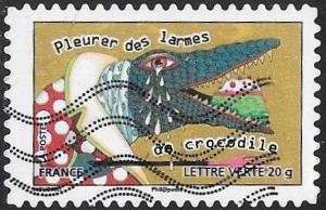 France 4341 Used - Animal Proverbs and Idioms - Cry Crocodile Tears