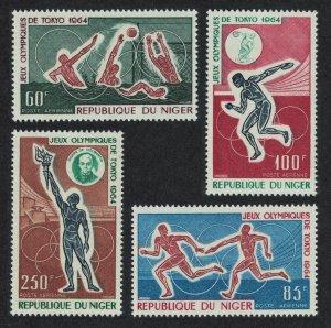 Niger Olympic Games Tokyo 4v 1964 MNH SG#180-183 CV£10.20