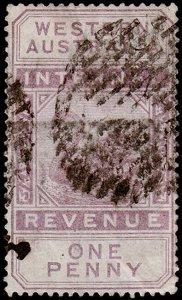 Western Australia Scott AR3, Perf. 14 (1882) Used F M