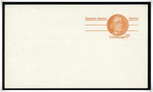 SC#UX66 8¢ Samuel Adams: Patriot  Postal Card Mint