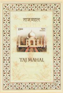 India Scott 2093a MNH Souvenir Sheet! Taj Mahal!