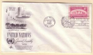 United Nations FDC Sc. # 69 General Assembly '59      L44