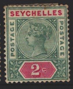 Seychelles Sc#1a MH - tone spots