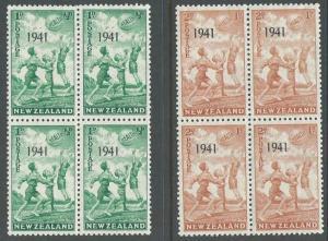 NEW ZEALAND 1941 Health blocks of 4 MNH. ACS cat NZ$40....................11352D