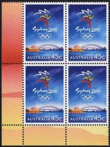 Australia SG1902 45c Olympic Games Sydney (2000) in U/M Block