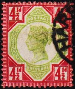 Great Britain. 1887 4 1/2d  S.G.206 Fine Used