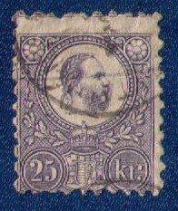 Hungary Sc 6a (1871) Emperor Josef I 25k Used