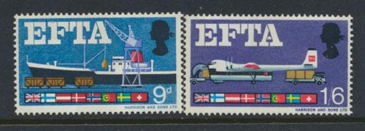 GB QE II Mint never Hinged  SG 715p - 716p phosphor set