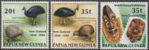 Papua New Guinea 1990 SG621-623 NZ issues set MNH