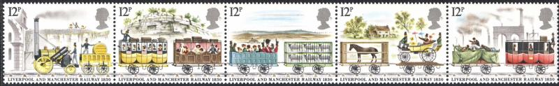 Great Britain 1980 Sc 908a Liverpool Manchester Stamp MNH