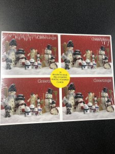 UX386-UX389 Christmas Snowman -  20 Stamped Postal Cards  Sealed