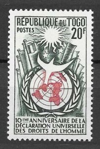 1958 Togo 246 10 years Universal Declaration of Human Rights