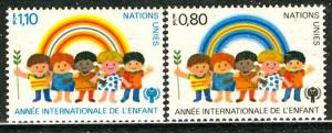 United Nations Geneva; 1979: Sc. # 84-85: **/MNH Cpl Set