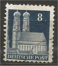 GERMANY, 1948, used 8pf dk slate blue, Munich Scott 640