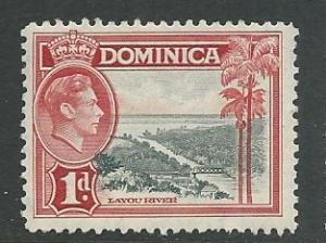 Dominica # 98 Geo.VI  1d. River Scene   (1) VF Unused VLH