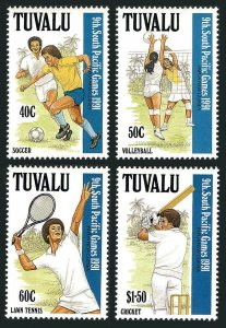 Tuvalu 574-577,MNH.Michel 595-598. South Pacific Games 1991.Soccer,Volleyball,