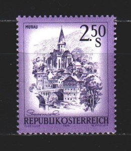 Austria. 1974. 1441 from the series. Murau city in Styria, church. MNH.