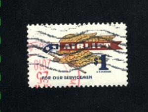 USA #1341  used 1968 PD .60