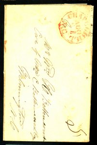 US STAMPLESS COVER 1859 F-VF