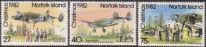 Norfolk Island 1982 SG293-295 Supply Planes set MNH