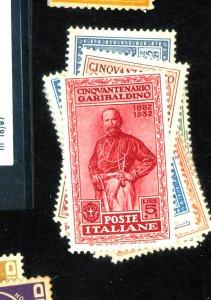 Italy #280-9 MINT FVF OG HR Cat$166.95 Small HRs