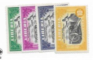 Liberia #301-304 MH - CAT VALUE $4.35