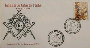 A) 1996, BRAZIL, FREEMASONRY, CENTENARY OF LIGHT AND CHARITY MASONIC LODGE, ECT