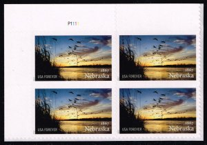 US #5179 Nebraska Statehood P# Block of 4; MNH (5Stars)