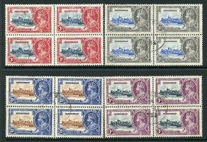Montserrat 1935 Silver Jubilee SG94/7 Fine Used BLOCKS OF 4