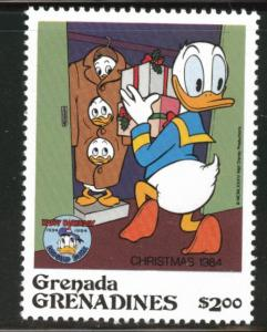 GRENADA GrenadinesScott 634 MNH** Donald Duck Christmas 1984