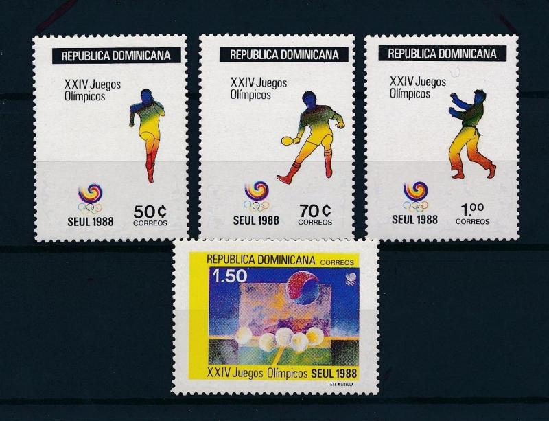 [55662] Dominican Republic 1988 Olympic games Seoul Tabletennis Judo MNH
