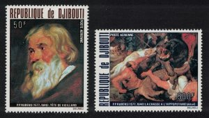 Djibouti 400th Birth Anniversary of Rubens 2v 1978 MNH SG#728-729