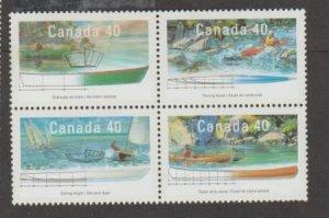 Canada Scott #1317-1320 Stamp - Mint NH Block of 4
