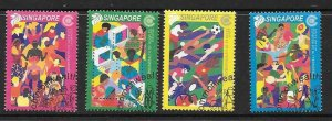 SINGAPORE SG1089/92 2001 COMMONWEALTH DAY FINE USED