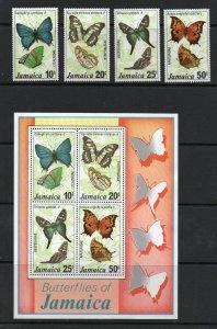 Jamaica -  Butterflies / (12) Stamps + (2) S/S MNH  -   Lot 0720046