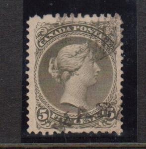 Canada #26 VF Used With Scarce Town Cancel