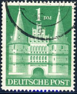 ALLEMAGNE / GERMANY Bizone 1948 Mi.97bbYIIG(97.IIeg) 1DM T2 p.14 VF Used