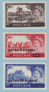 QATAR 13 - 15  MINT LIGHTLY HINGED OG * NO FAULTS EXTRA FINE ! - W098