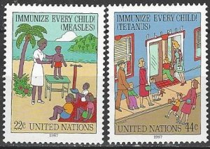 United Nations 517-8  MNH  Immunization