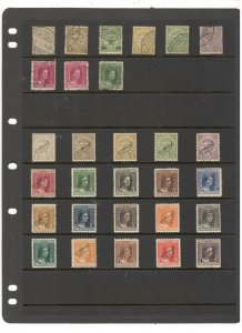 LUXEMBOURG COLLECTION ON STOCKSHEET, MINT/USED