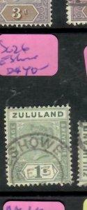 ZULULAND  (PP2305B)  QV  1/-   SG 26  ESHOWE     VFU