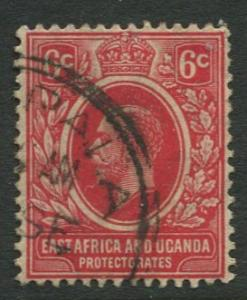 East Africa & Uganda - Scott 42 - KGV Definitive -1912 - Used -Single 6c Stamp