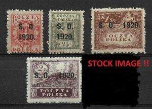 Eastern Silesia 1920 Overprinted stamps of Poland, VF MNH** (RN-5), STOCK IMAGE