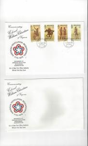 Isle of Man FDC 78-81  American Revolution Bicentennial  Official Cover