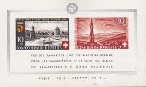 Switzerland 1942 Geneva 2'000 Anniversary Souvenir Sheet. XF/NH/(**) Semi-Postal