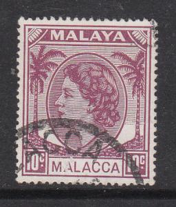 Malaya Malacca 1954 Sc 35 QEII 10c Used