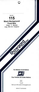 SHOWGARD BLACK MOUNTS 264/115 (5) RETAIL PRICE $11.95
