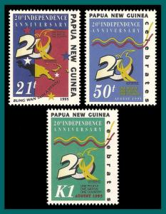 Papua New Guinea 1995 Independence, MNH 879-881,SG766-SG768