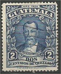 GUATEMALA, 1929, used 2c Rufino Barrios Scott 235