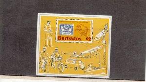 BARBADOS *631 SOUVENIR SHEET MNH 2019 SCOTT CATALOGUE VALUE $4.50